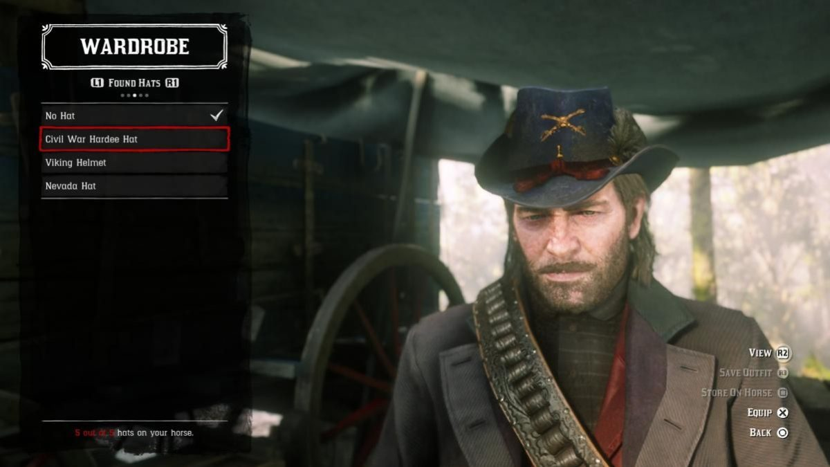 Red Dead Redemption 2: Where to Find the Civil War Knife and Hat