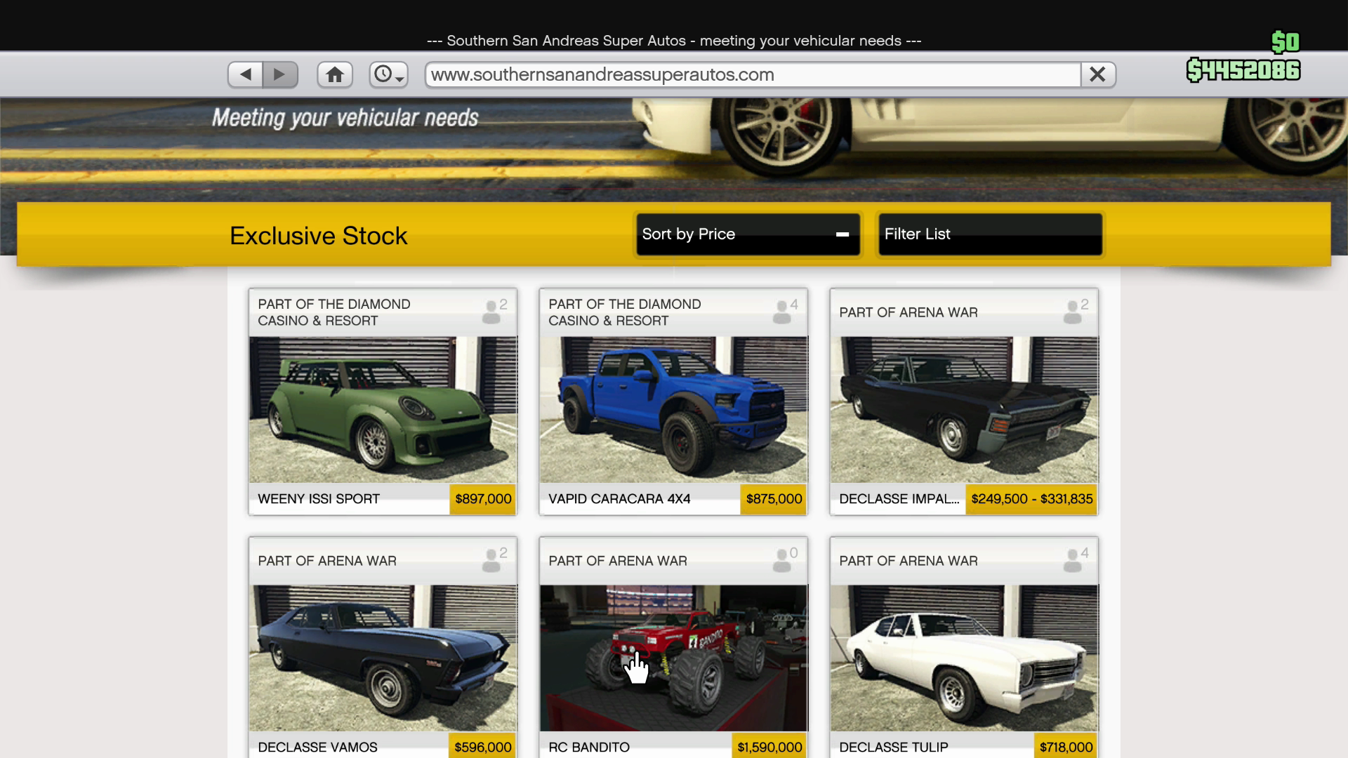 GTA Online Casino Update - Vehicle Prices - RockstarINTEL