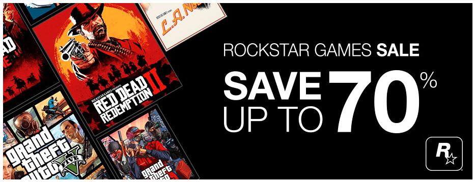 Rockstar Game Sale. Bis zu 70% reduziert.